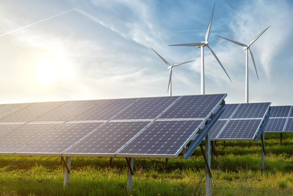 Windmolens en zonnepanelen